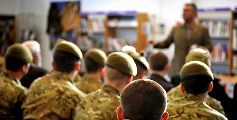 Soldiers in the classroom